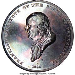 1874 froemner Franklin Institute Silver Medal obverse