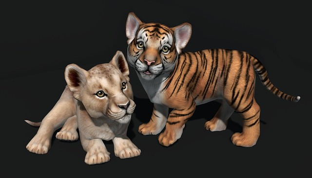 JIAN WIP Tiger & Lion Cubs