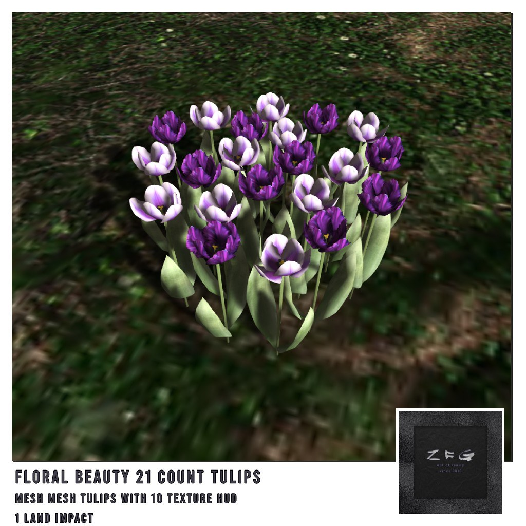 {zfg} home floral beauty 21 tulips