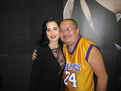 David Sheng with dancer Dita Von Teese(Marilyn Manson's ex-wife).