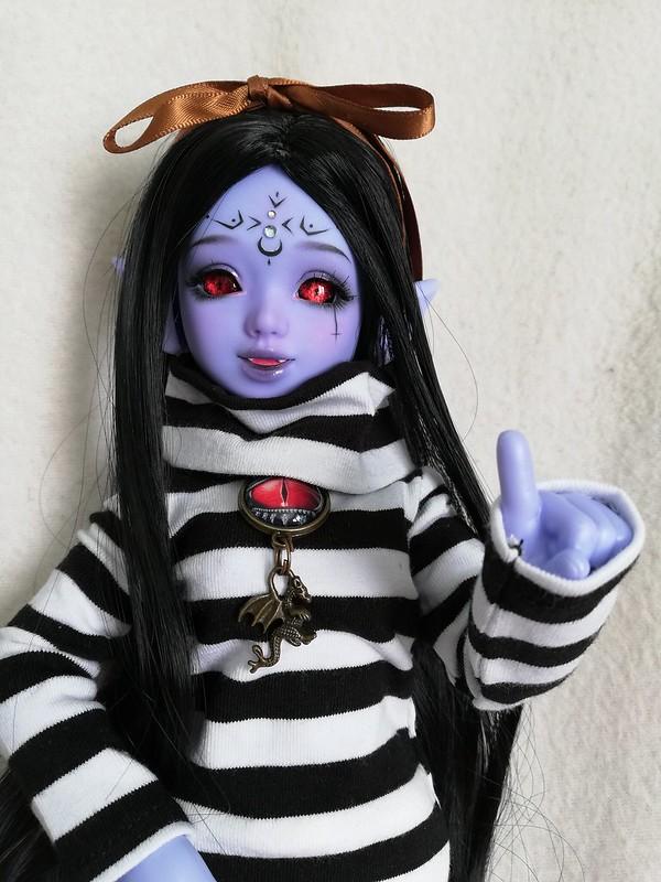 [Ventes] Bjd Chibi Unoa halloween vers. Violet skin Fullset  47786659151_5f13aab999_c