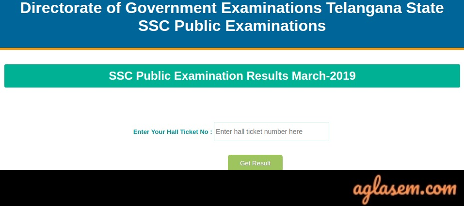 TS SSC Result 2019 Announced