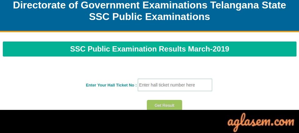 TS SSC Result 2019