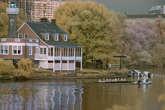 rowers along the schuykill boathouse row