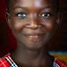 Miss Diakité, beautiful african girl with heterochromia iridis causing two different colored eyes, Moyen-Comoé, Abengourou, Ivory Coast by Eric Lafforgue