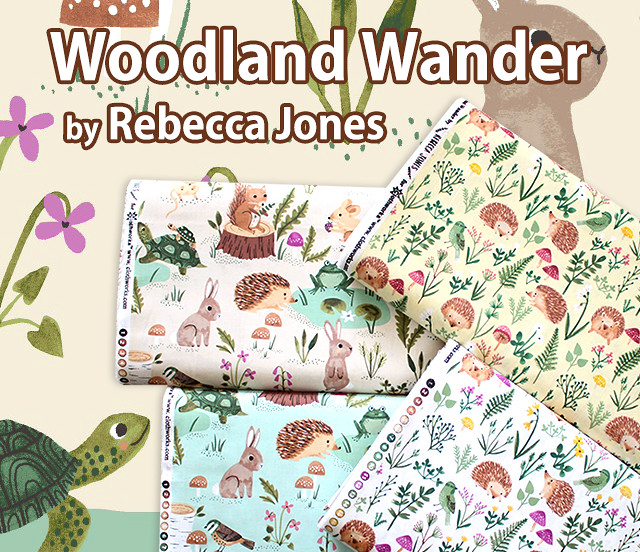 Clothworks Woodland Wander Y2591-1 Hedgehog White