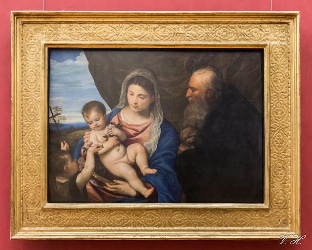 2019/02/24 17h00 Le Titien, «La Vierge aux roses» (vers 1530), Galerie des Offices (Florence)