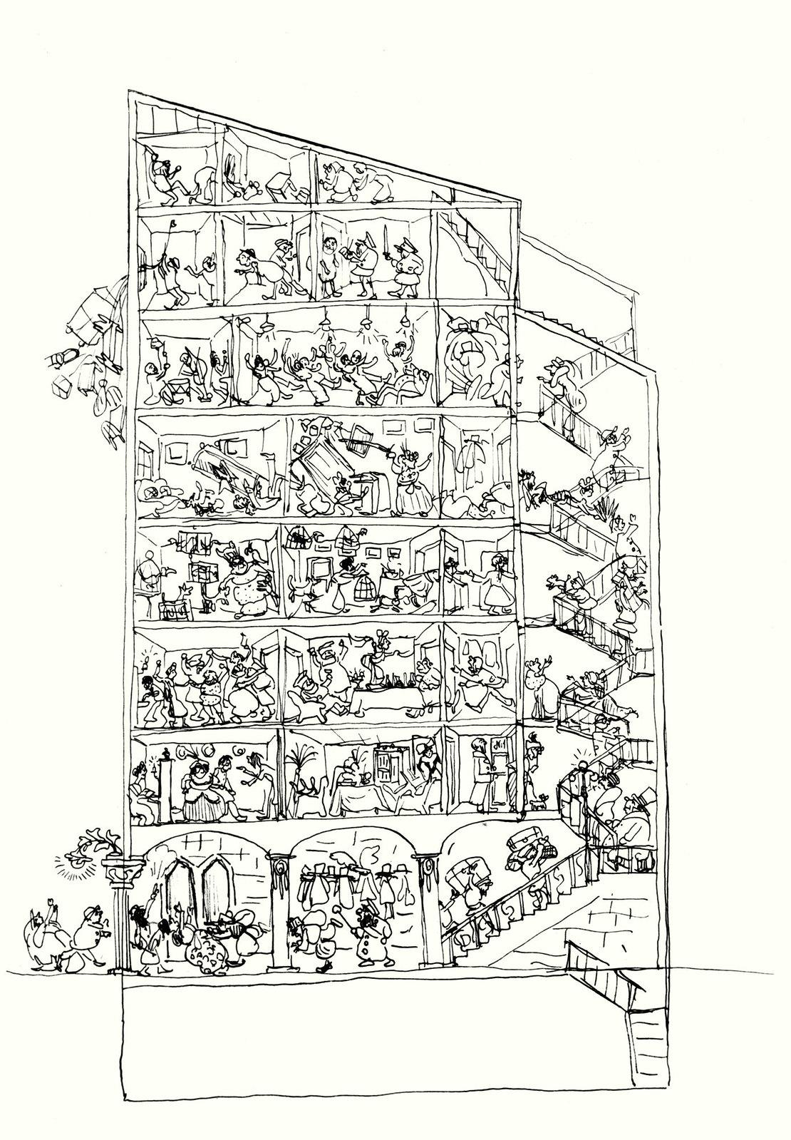 1912. «Дом в разрезе». Рига