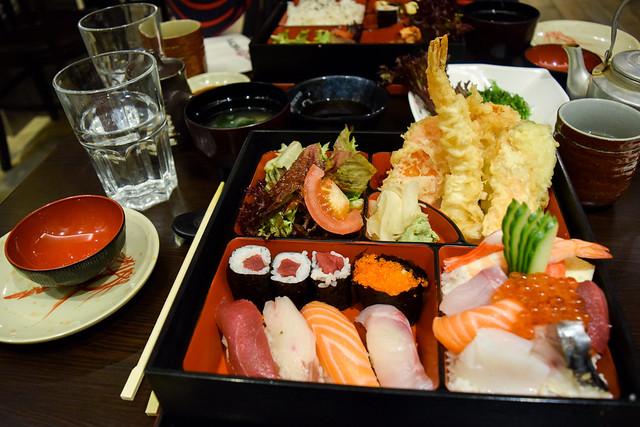 Sushi Sashimi Bento at Eat Tokyo, Notting Hill Gate