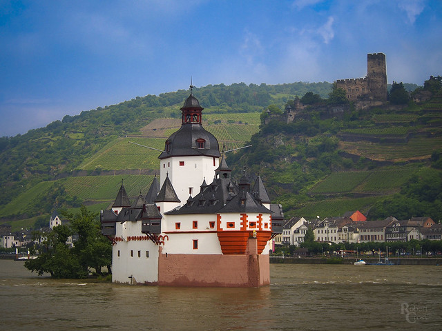 Island Castle in the Middle of the Rhine