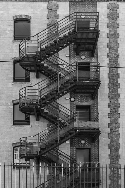 upstairs in b&w