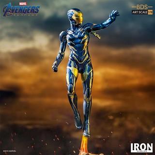 小辣椒的救援裝甲! Iron Studios Battle Diorama 系列《復仇者聯盟:終局之戰》在劇中展現超強戰鬥力的裝甲現身!Pepper Potts in Rescue Suit 1/10 比例決鬥場景雕像作品
