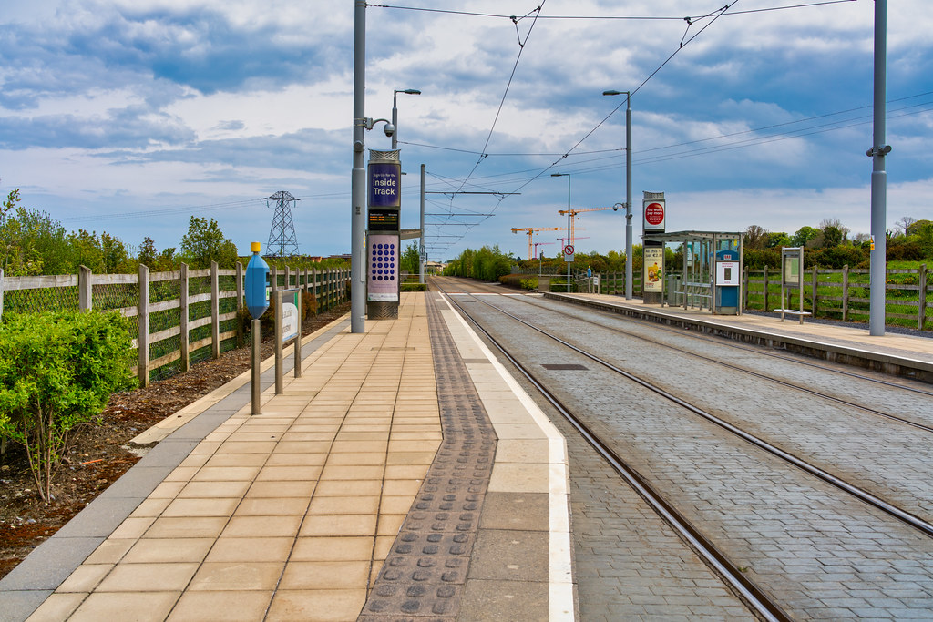 LUAS TRAM STOP AT LAUGHANSTOWN 005