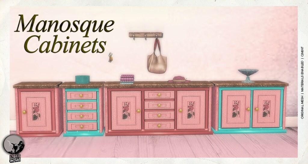 *PC* Manosque Cabinets