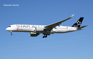 350.941 AIR CHINA F-WZNJ 311 TO B-308W STAR ALLIANCE COLOURS THE LAST 350 FOR AIR CHINA 13 05 19 TLS