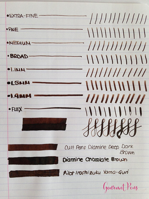 Cult Pens Diamine Deep Dark Brown Ink 4