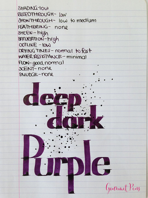 Cult Pens Diamine Deep Dark Purple Ink 5