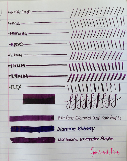 Cult Pens Diamine Deep Dark Purple Ink 3