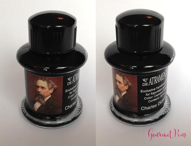 De Atramentis Great Writers Ink Bottle Charles Dickens Cement Grey 8