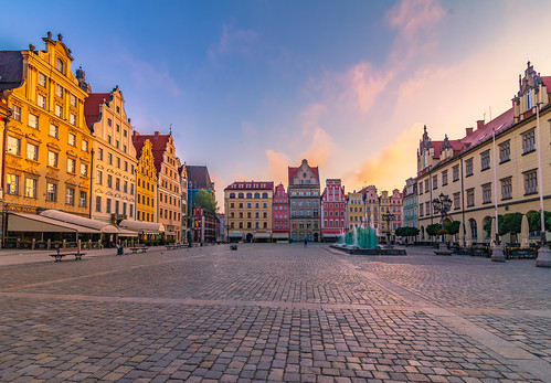 wroclaw poland europe travel sunrise morning dawn square old town city cityscape architecture landscape urban colors colour holidays may 2018 spring tokina 1628mm canon 6d