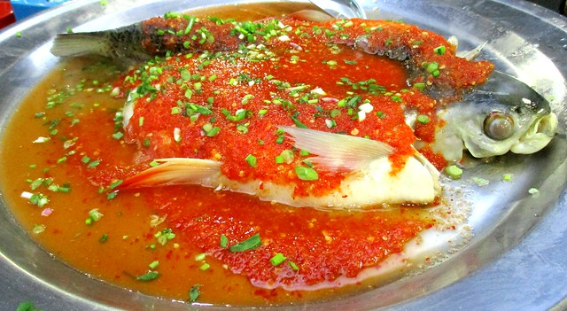 Steamed ikan sultan