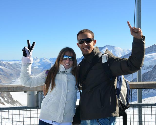 Mirador Sphinx con el glaciar Aletsch al fondo