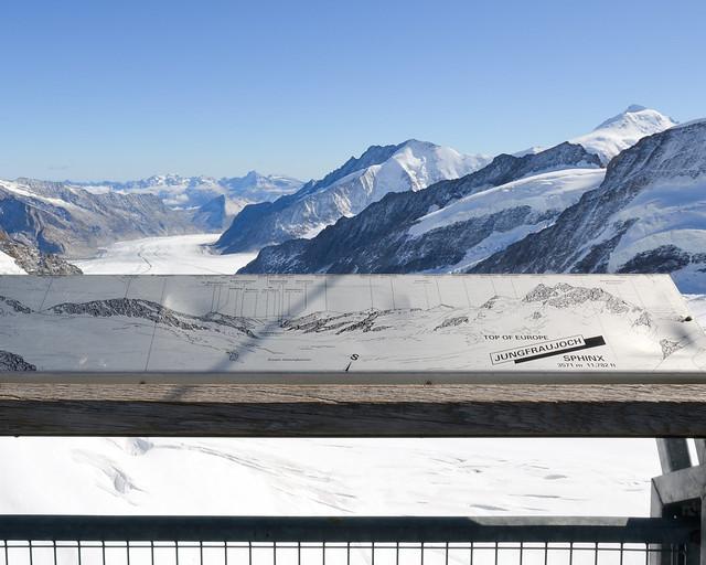Mirador sobre el glaciar Aletsch