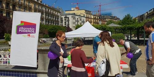 Elkarrekin Podemos Easo plazan