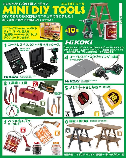F-TOYS 「迷你DIY工具」盒玩作品 支援登場!MINI DIY TOOLS