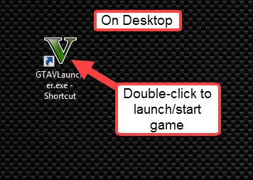 Desktop GTAVLauncher Shortcut