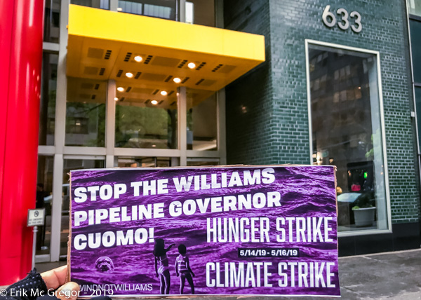 Climate Hunger Strike at Cuomo's Office