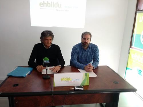 Presentación de EH Bildu sobre economía Irun