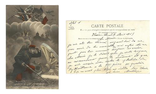 [Lettre d'Antoine Chadeyras à son épouse Maria, 28 avril 1915, vue combinée]