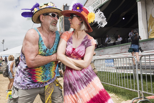 Audience fashion at Jazz Fest 2019 day 8 on May 5, 2019. Photo by Ryan Hodgson-Rigsbee RHRphoto.com