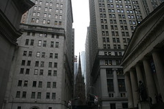 Trinity Church, Wall Street and Federal Hall