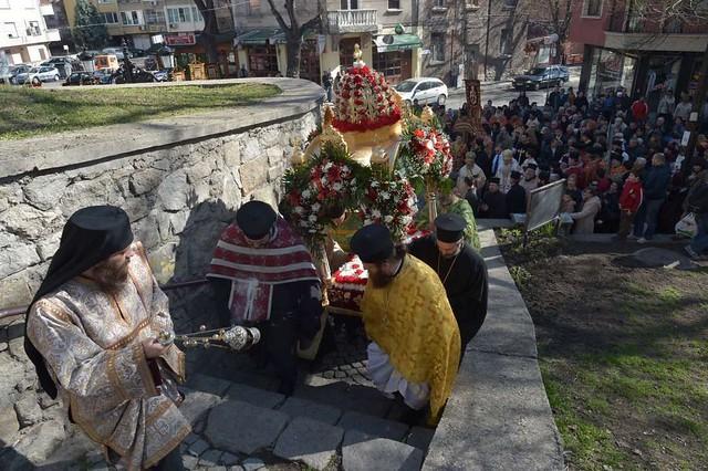 16.02.2014 г. - Посрещане на частица от светите мощи на преподобномъченица Параскева Римлянка