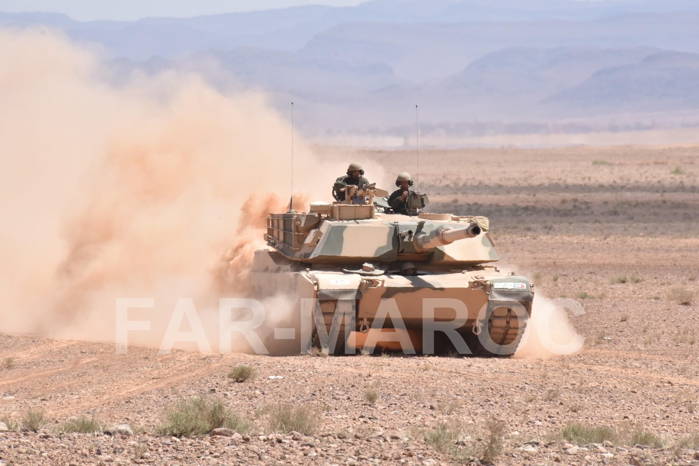 M1A1 SA ABRAMS Marocains / Moroccan M1A1 SA ABRAMS 47797773881_b2aec32f6b_o