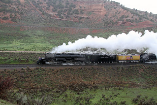 Rain on your parade! Sleet, rain and freezing temperatures made for an interesting start of the final leg of the great race to Ogden for Big Boy #4014 and the #844