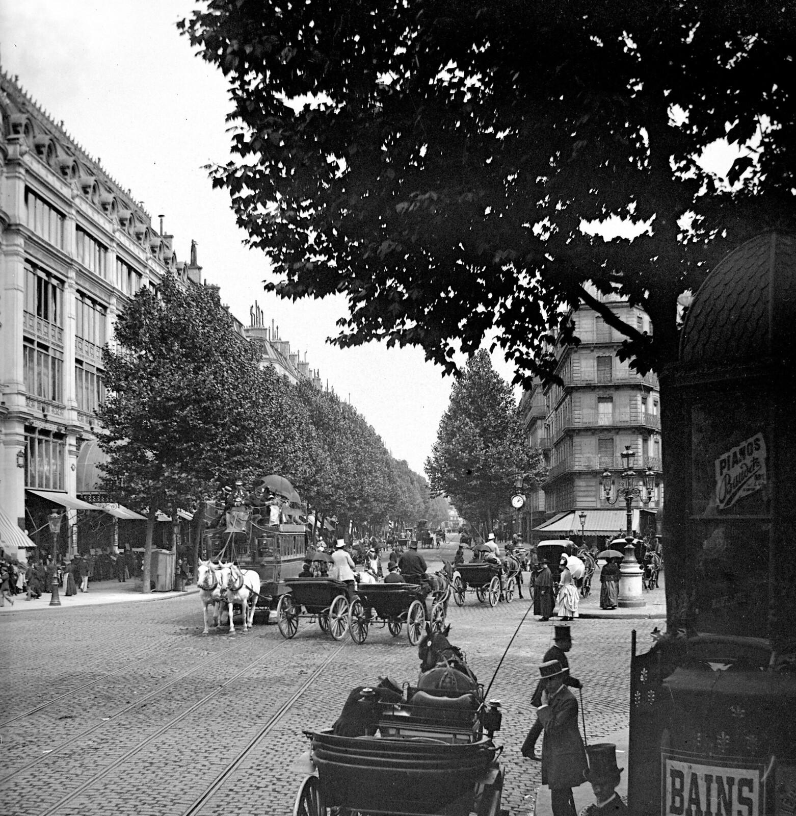 1870. Париж VIII и IX округ. Бульвар Осман