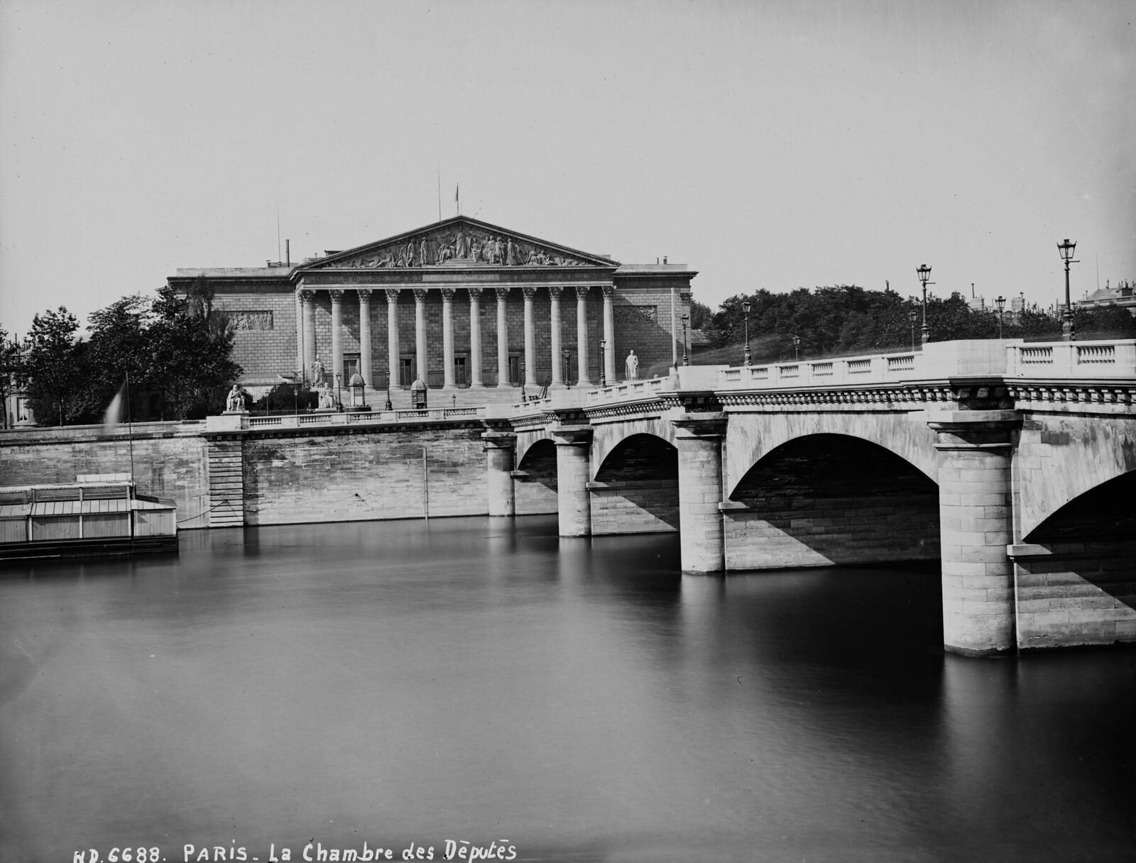 1865. Париж (VII округ). Вид на здание палаты депутатов и мост Согласия.