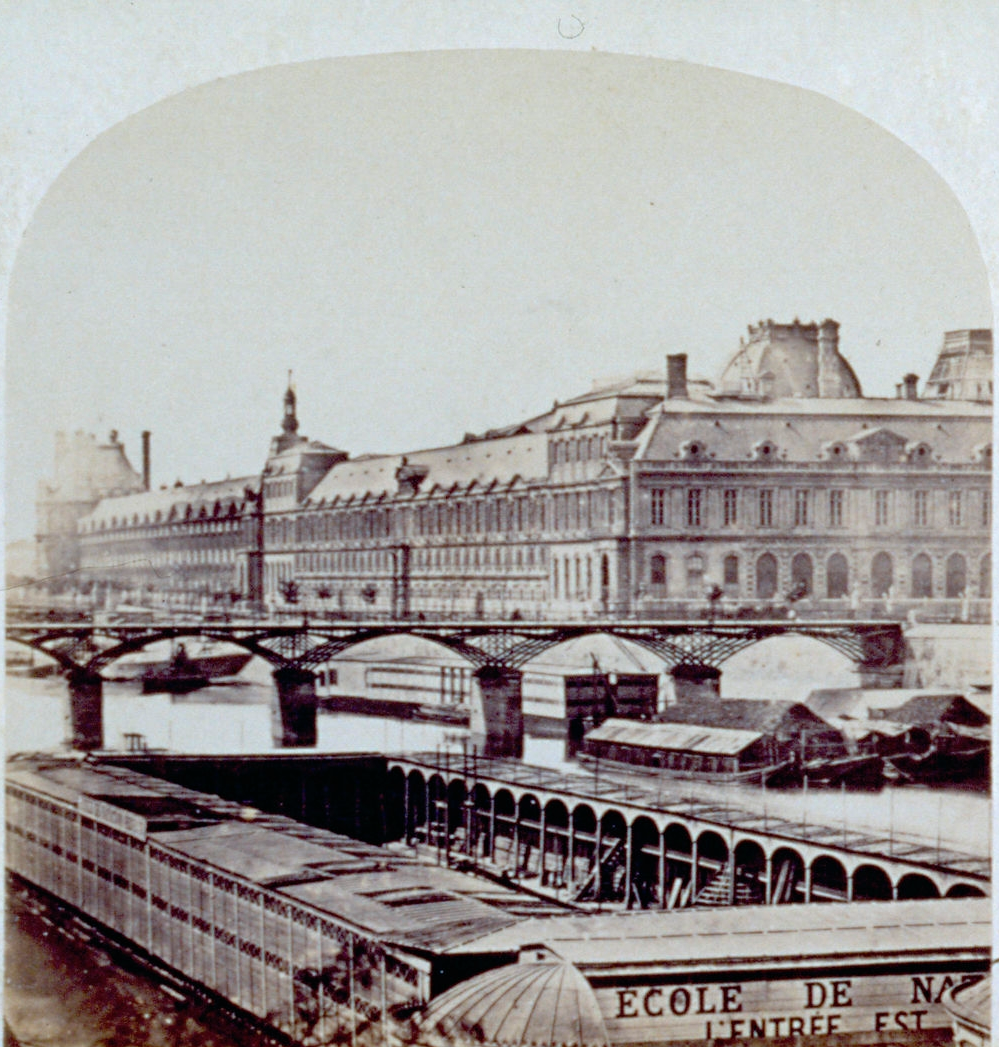 1860. Вид на дворец Тюильри