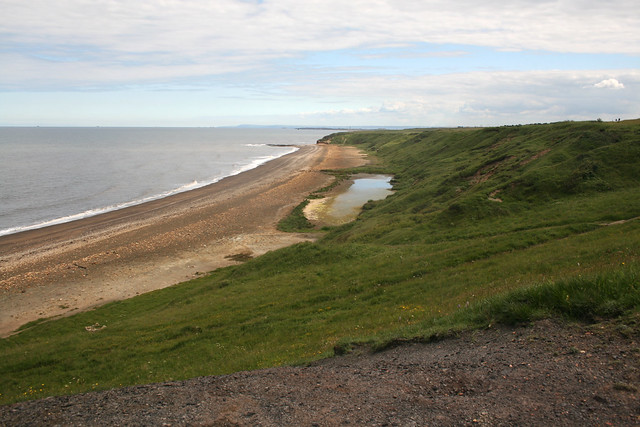 The beach at Blackhall Colliery, County Durham