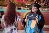 Honolulu Community College celebrated spring 2018 commencement on Friday, May 10, 2018 at the Waikiki Shell. Student proudly holding her 2019 Honolulu Community College diploma.
