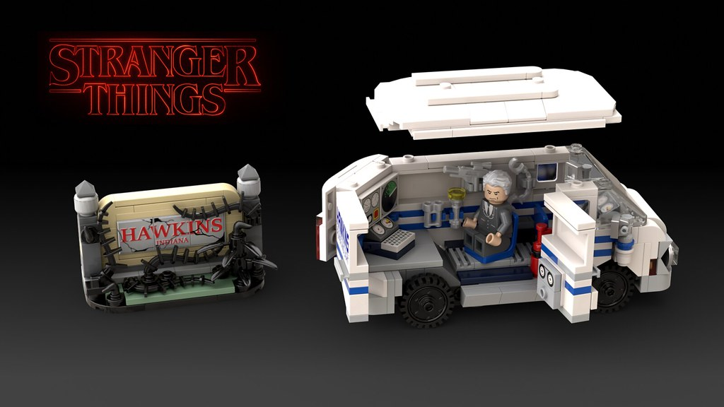 Stranger Things Van and Sign Alternate
