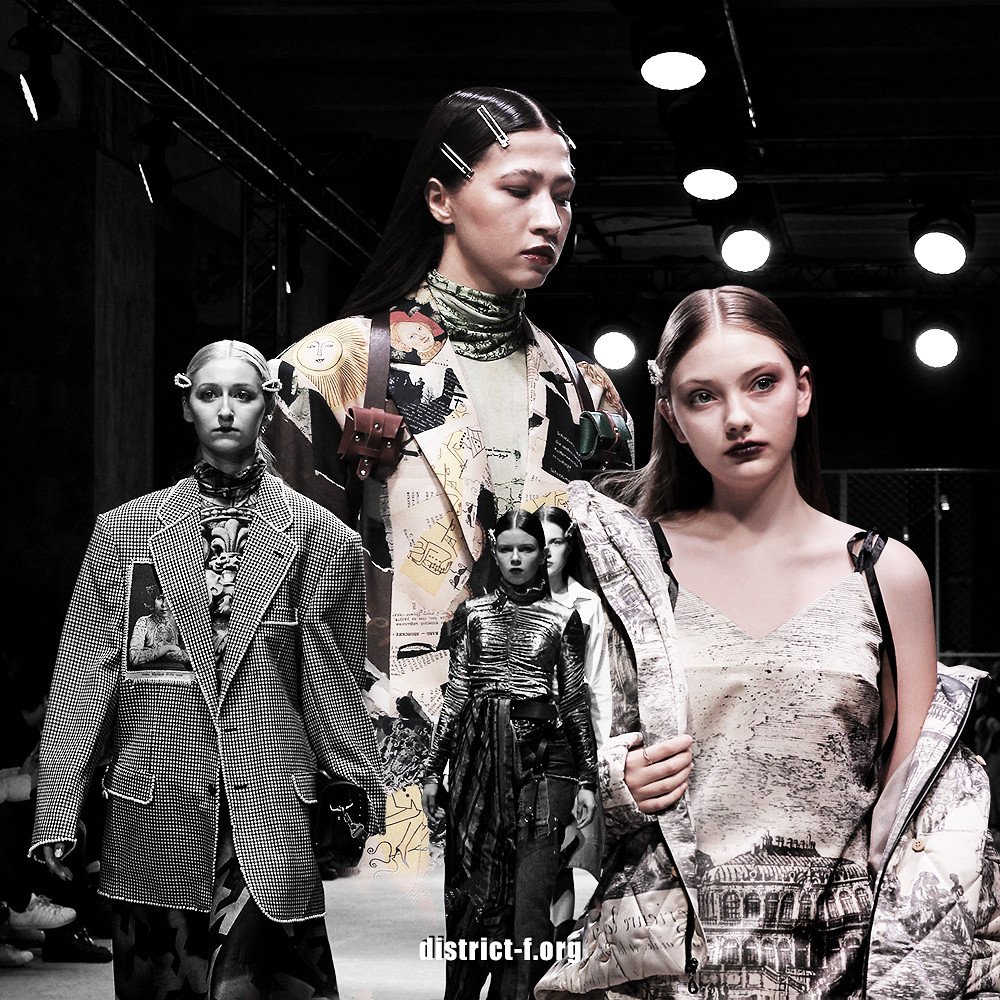 DISTRICT F — MBFW Russia, Futurum Moscow — Natasha Timofeeva AW19 один (превью)