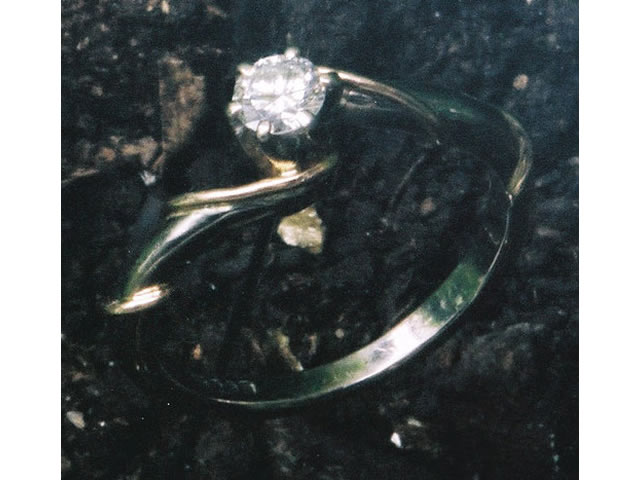 Diamond ring with tendrils