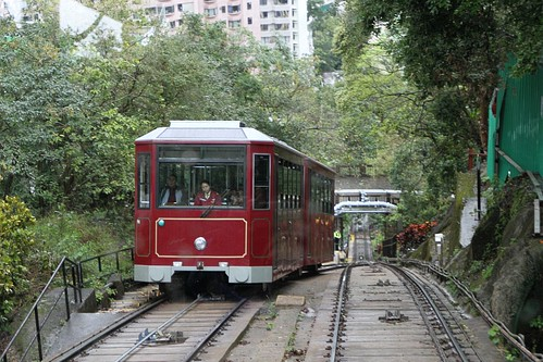 Passing the 'west' tramcar at the crossing loop