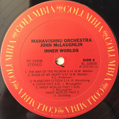 MAHAVISHNU ORCHESTRA JOHN MCLAUGHLIN:INNER WORLDS(LABEL SIDE-B)