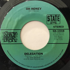 DELIGATION:OH HONEY(LABEL SIDE-A)