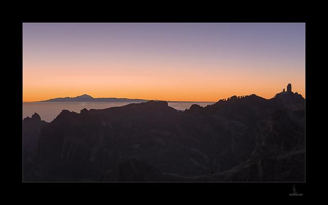 Roque Nublo y Tenerife. Ruta de la Plata